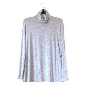 J. Jill gray turtle long sleeve soft EUC shirt